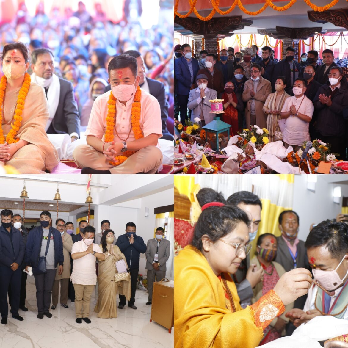 Wishing for the wellbeing of the state and its people, Hon'ble Chief Minister inaugurates a new temple on the occasion of MahaShivaratri