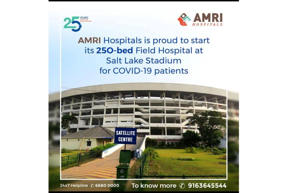 India's largest football stadium turned into a 250-bed COVID hospital by AMRI Hospitals
