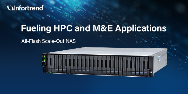 Infortrend Technology Launched All-Flash Models in its EonStor CS Scale-Out NAS Family to Fuel HPC and M&E Applications