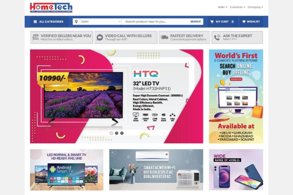 Hometech: Launches World's First Search Online-Buy Offline Ecom Platform Exclusive for Electronic Items